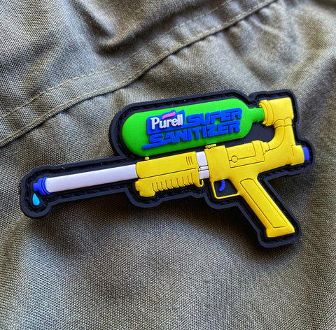 Dangerous Goods Purell Super Sanitizer PVC Water Gun Morale Patch