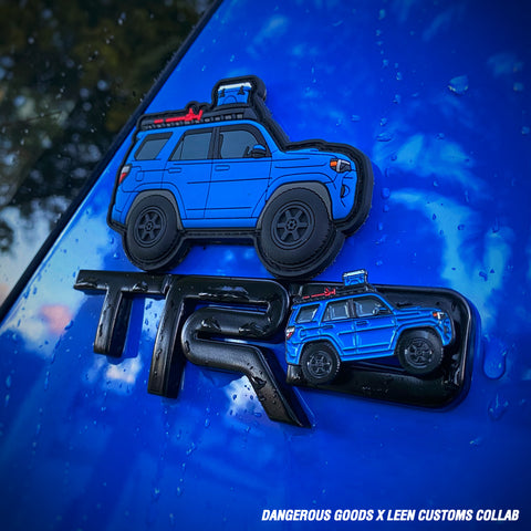 Dangerous Goods X Leen Customs 4runner TRD Pro Patch & Pin Collab