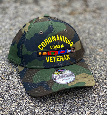 Dangerous Goods™️ Coronavirus Veteran™️ M81 Woodland Camo New Era Fitted Hat