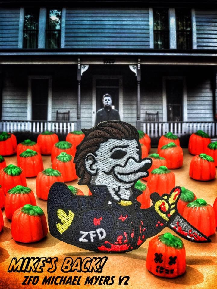 ZERO FUCKS DUCK MICHAEL MYERS ZFD MORALE PATCH