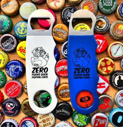 ZERO FUCKS DUCK ZFD PISTOL GRIP BOTTLE OPENER - 2 COLOR OPTIONS