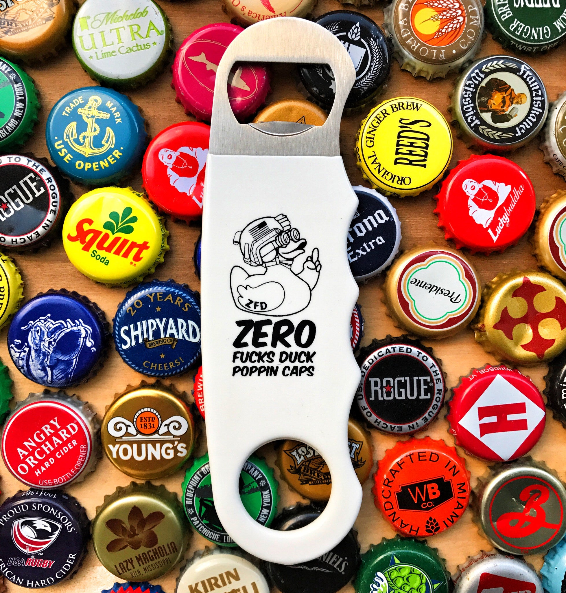 """ALL NEW"" A DUMP BOX ZERO FUCKS DUCK ZFD PISTOL GRIP BOTTLE OPENER - 2 COLOR OPTIONS"