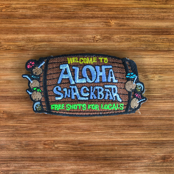 """ ALL NEW "" ALOHA SNACKBAR EMBROIDERED MILITARY MORALE PATCH"