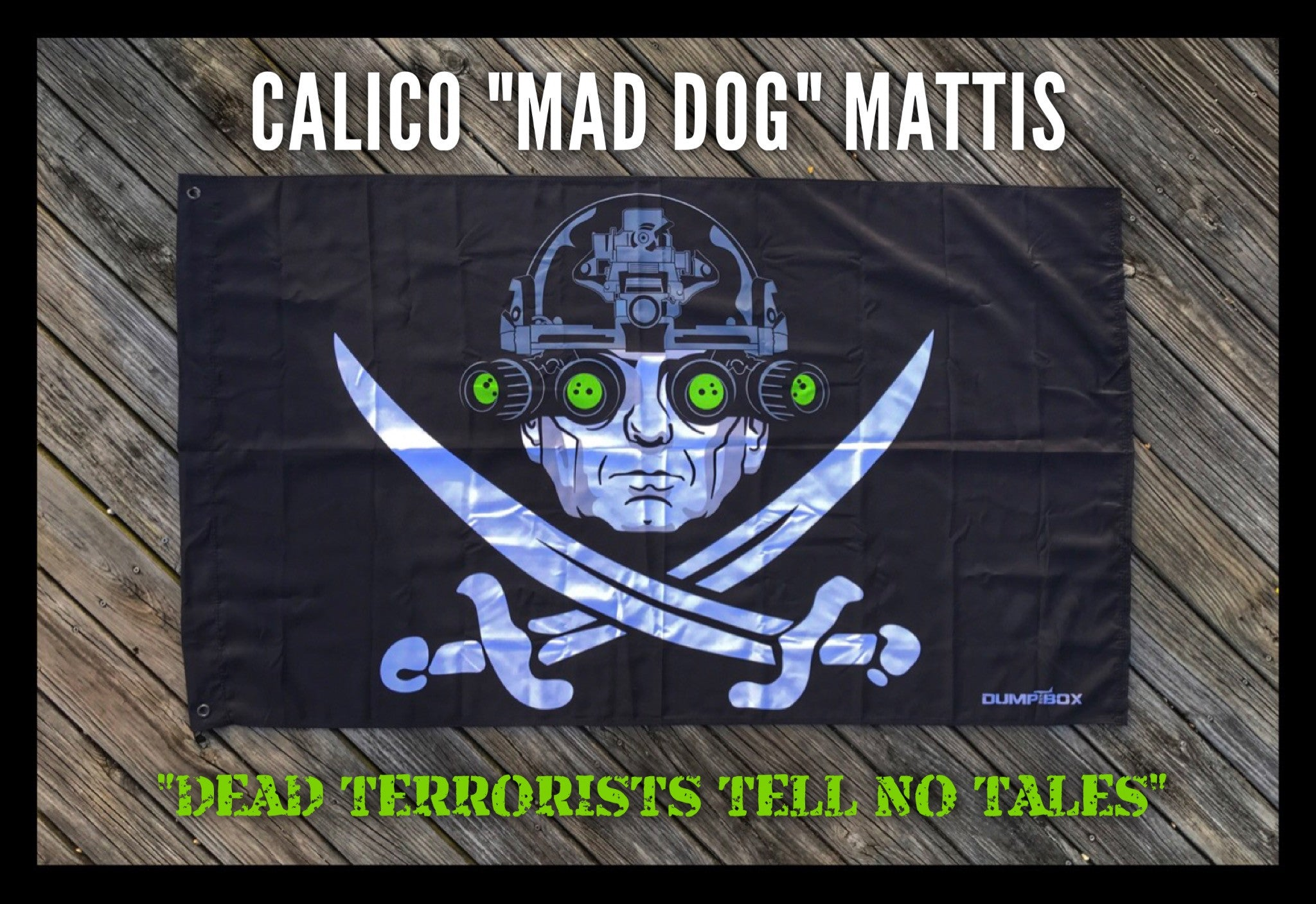 "SECDEF 'CALICO ""MAD DOG"" MATTIS' PIRATE FLAG - 3' X 5'"