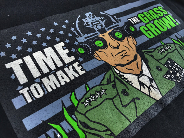 "DUMP BOX ORIGINAL MAD DOG MATTIS ""TIME TO MAKE THE GRASS GROW"" MARINES T-SHIRT"