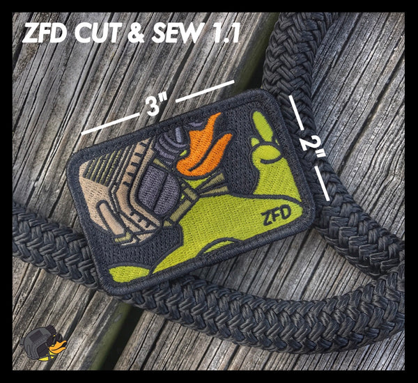 "ZERO FUCKS DUCK ""ZFD"" MORALE PATCH SERIES - CUT & SEW"
