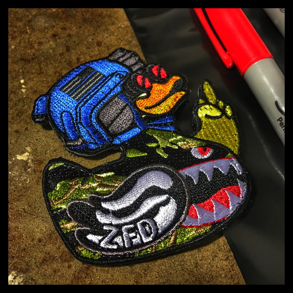 "ZERO FUCKS DUCK ""ZFD"" LIMITED EDITION MORALE PATCH - ""WHAT THE DUCK"""