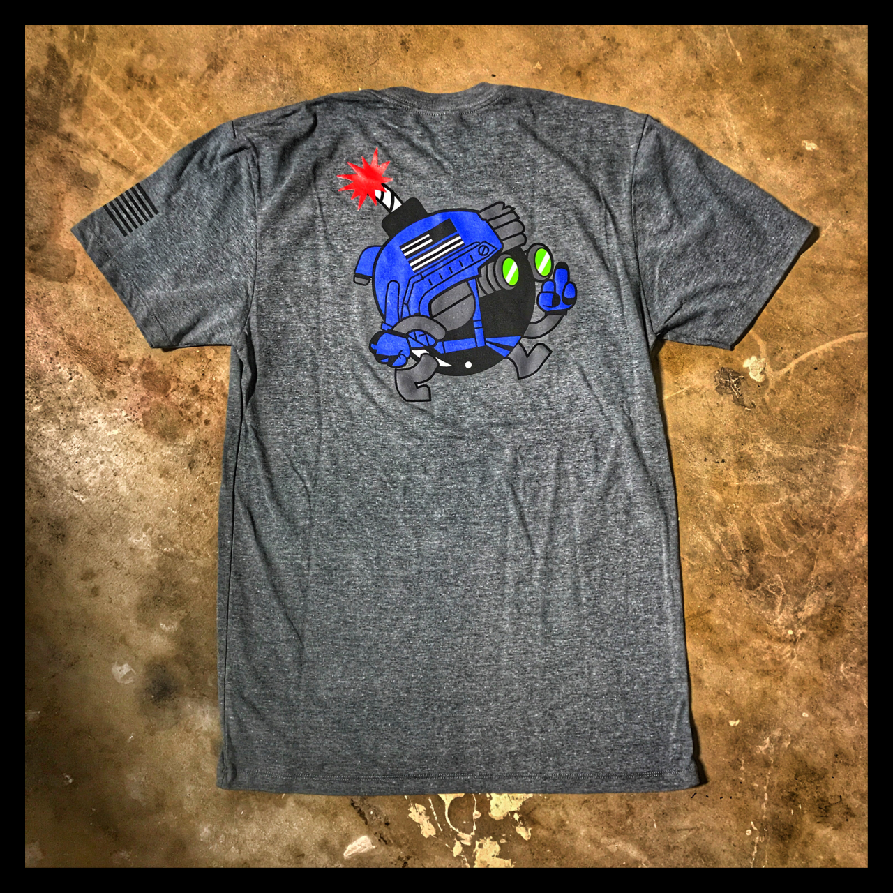 """ALL NEW"" A DUMP BOX OFFICIAL 'THIN BLUE LINE' ZERO FUCKS CHUCK ZFC OPERATOR T-SHIRT"