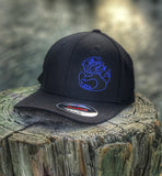 """ALL NEW"" A DUMP BOX ZERO FUCKS DUCK ""ZFD"" THIN BLUE LINE BLACK FLEXFIT HAT"