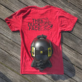 Zero Fucks Duck 'The Duck Face' Operator T-Shirt - Heather Red