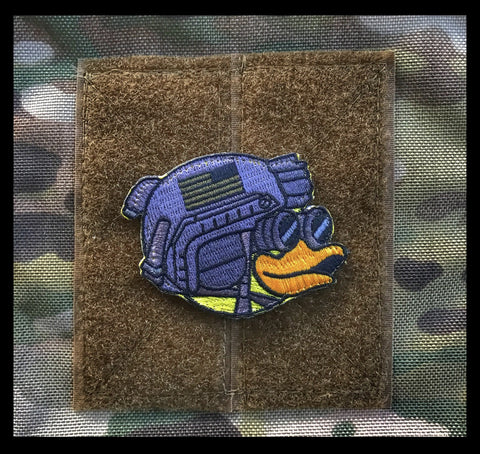 ZERO FUCKS DUCK MASCOT HEAD MORALE PATCH