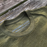 DANGEROUS GOODS™ FLAGSHIP PLACARD T-SHIRT - OD GREEN