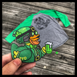 "DUMP BOX OFFICIAL ST. PATTY'S ZERO FUCKS DUCK ""ZFD"" PATCH - LUCKY DUCK"