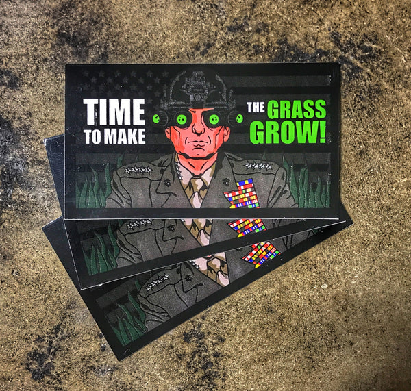 """ALL NEW"" A DUMP BOX ORIGINAL MAD DOG MATTIS ""TIME TO MAKE THE GRASS GROW"" MARINES STICKER"
