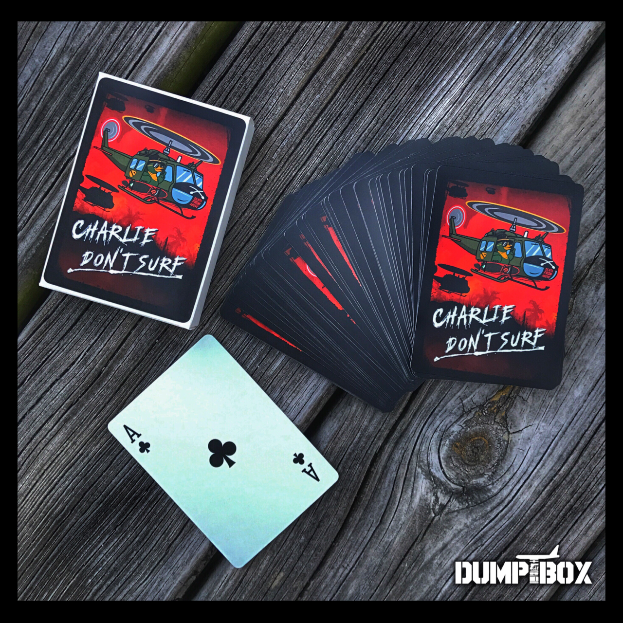 "DUMP BOX OFFICIAL ZERO FUCKS DUCK ""ZFD"" KILGORE DEATH CARDS POKER CARD SET"