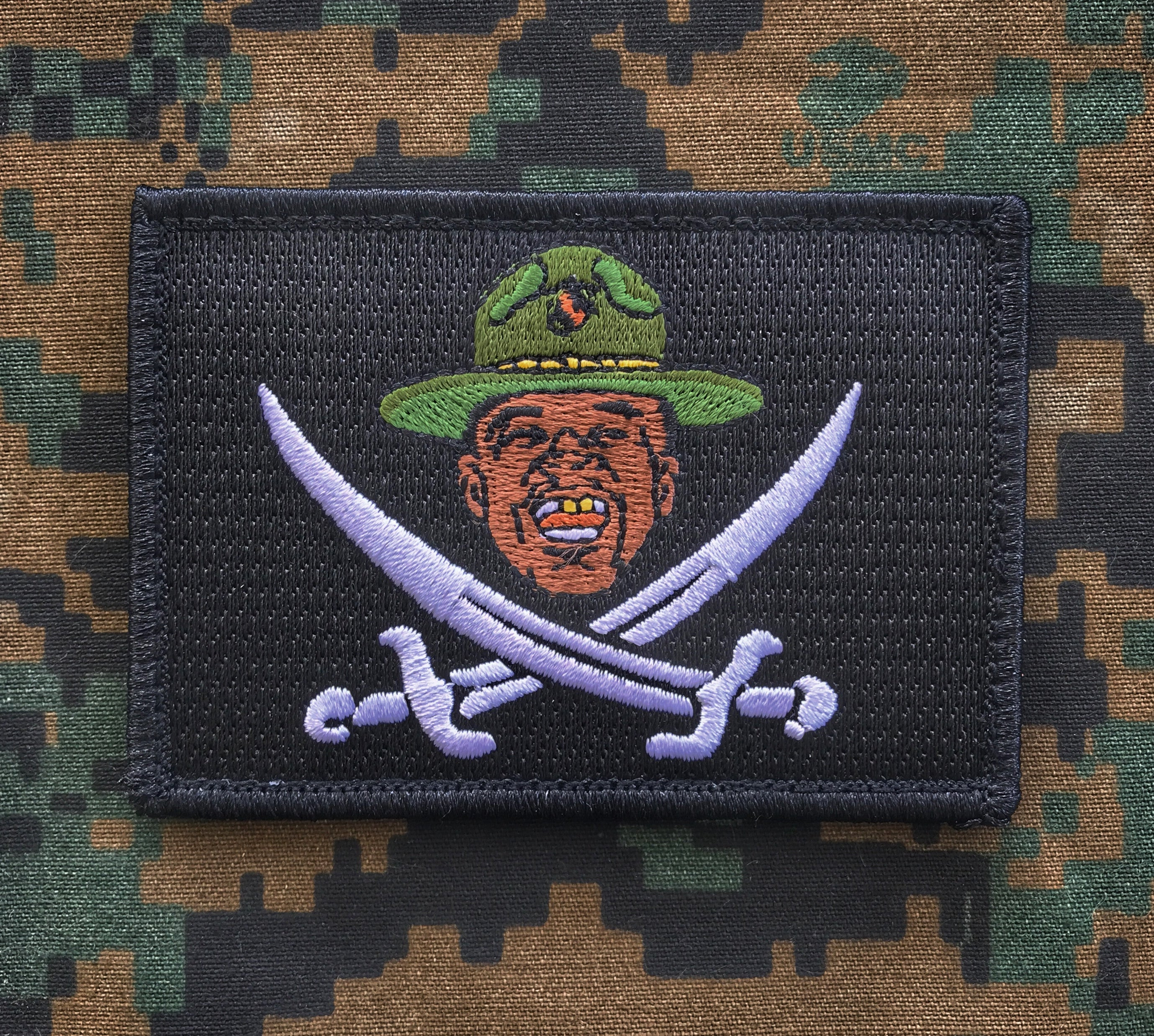 Major Payne Calico Pirate Flag Morale Patch