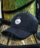 'TACTICAL GOLF' V-40 GRENADE GOLF BALL FLEX FIT HAT - BLACK