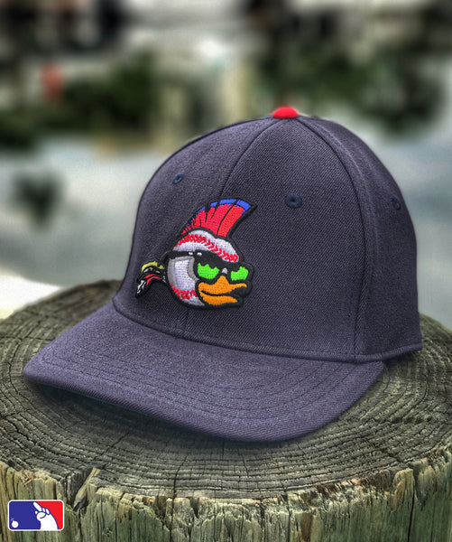 ZERO FUCKS BASEBALL WILD DUCK FLEX-FIT HAT - NAVY