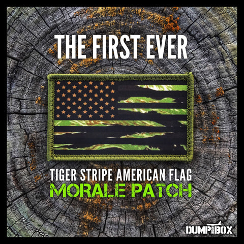 Tiger Stripe Camo Subdued American Flag Morale Patch