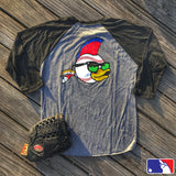 """  ALL NEW  "" A DUMP BOX OFFICIAL ""ZFB"" ZERO FUCKS BASEBALL ZFD RAGLAN T-SHIRT"