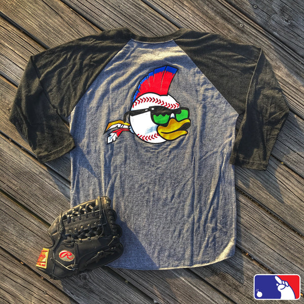 ZERO FUCKS BASEBALL WILD THING ZFD RAGLAN T-SHIRT