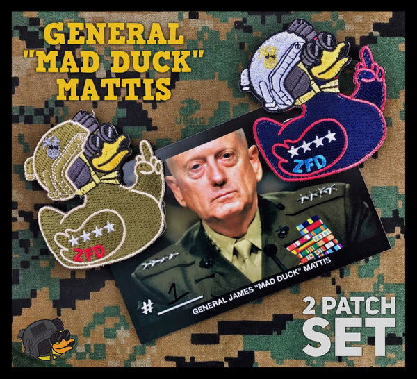 "DUMP BOX OFFICIAL ZERO FUCKS DUCK ""ZFD"" MORALE PATCH SET - ""MAD DUCK"" MATTIS"