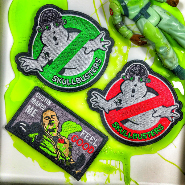 """SKULLBUSTERS"" LIGHTS OUT NVG GHOST MILITARY MORALE PATCH - 2 COLOR OPTIONS"