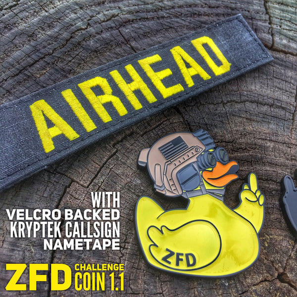 ZERO FUCKS DUCK ZFD OPERATOR CHALLENGE COIN SERIES - ONLY 50 MADE