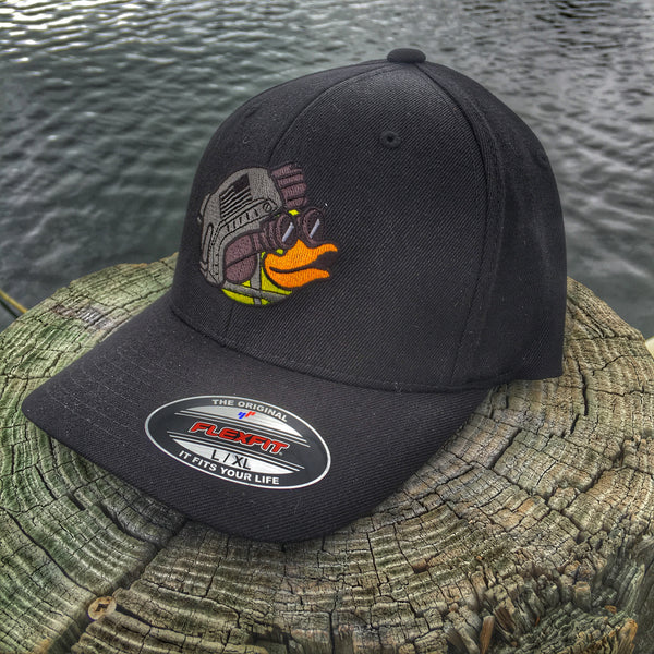 "DUMP BOX OFFICIAL ZERO FUCKS DUCK ""ZFD"" MASCOT FLEXFIT HAT - 2 COLOR OPTIONS"