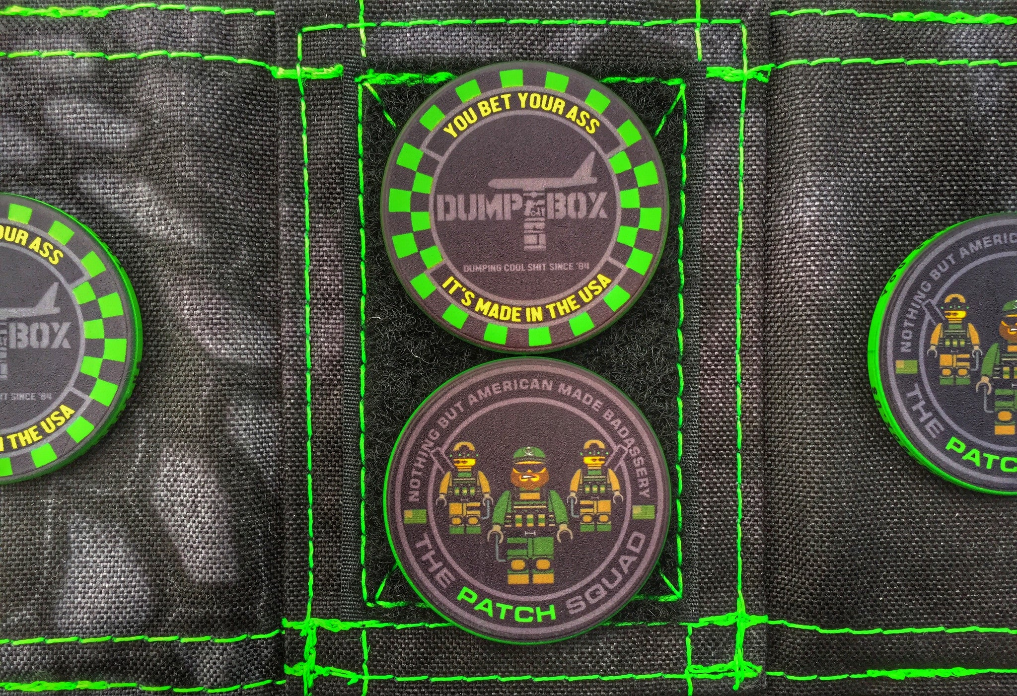 """ALL NEW"" THE PATCH SQUAD X DUMP BOX CERAMIC POKER CHIP COIN"