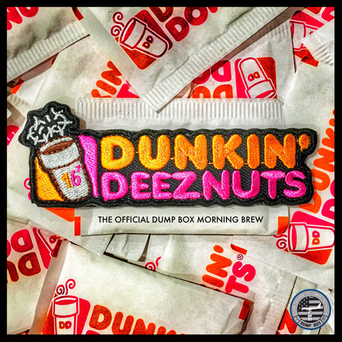 Dunkin Deeznuts Coffee Morale Patch