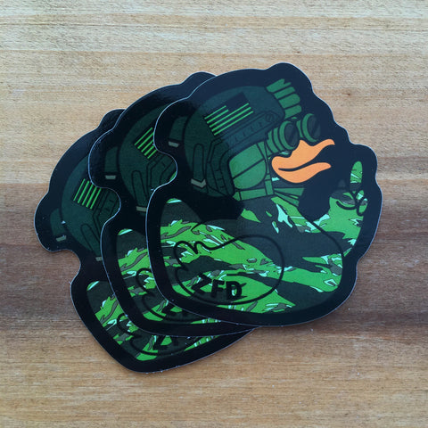 ZERO FUCKS DUCK ZFD OPERATOR NVG STICKER - TIGER STRIPE