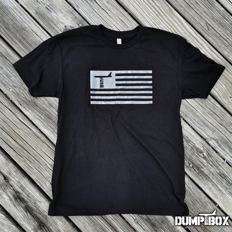 DUMP BOX B-52 SUBDUED AMERICAN FLAG T-SHIRT - 2 COLOR OPTIONS