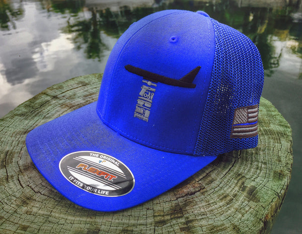 DUMP BOX POCKET DUMP FLEX FIT - THIN BLUE LINE - TRUCKER HAT