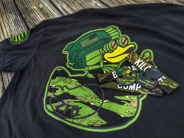 """NEW"" DUMP BOX ORIGINAL ZERO FUCKS DUCK ZFD OPERATOR T-SHIRT - TIGER STRIPE CAMO"