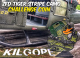 ZERO FUCKS DUCK ZFD OPERATOR CHALLENGE COIN CLASSIFIED SERIES - TIGER STRIPE CAMO