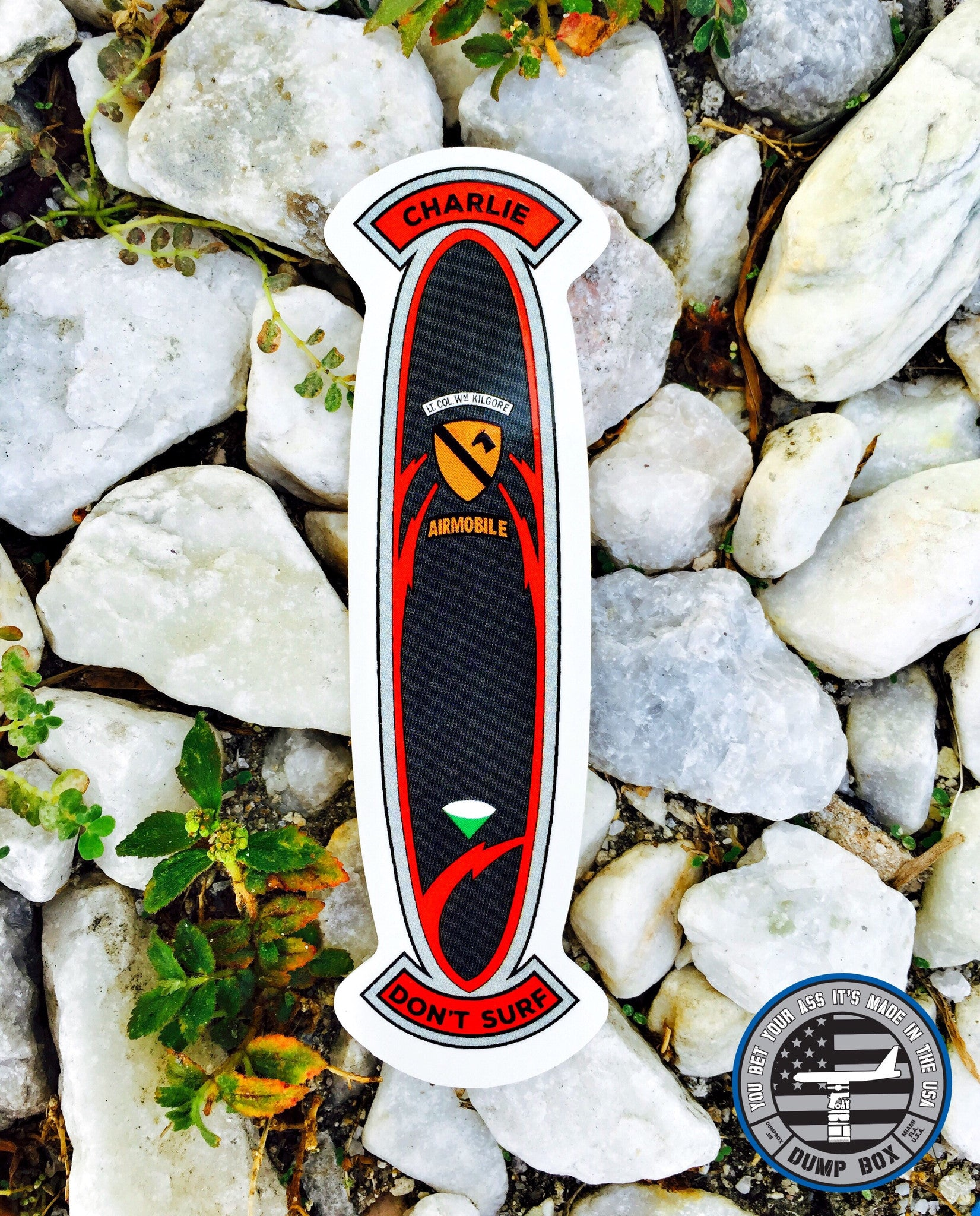 Charlie Don't Surf Kilgore Surfboard Sticker