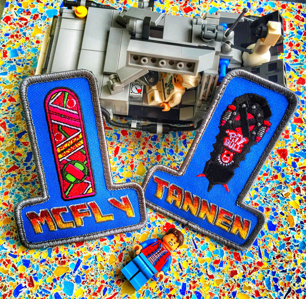 THE MCFLY AND TANNEN HOVERBOARD MORALE PATCH SET - 3 OPTIONS
