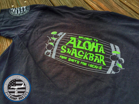 WELCOME TO ALOHA SNACKER OPERATOR T-SHIRT - BLACK