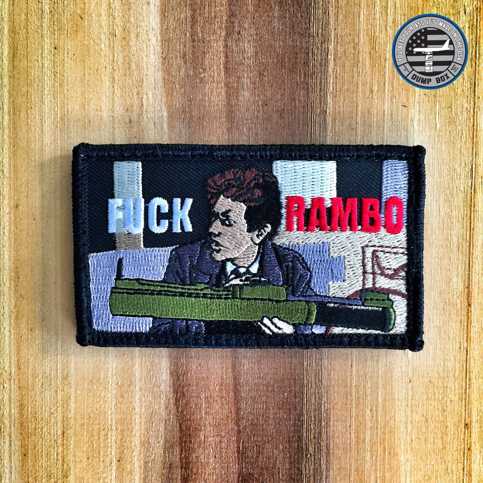 "THE BEVERLY HILLS COP ""FUCK RAMBO"" BILLY ROSEWOOD MORALE PATCH"