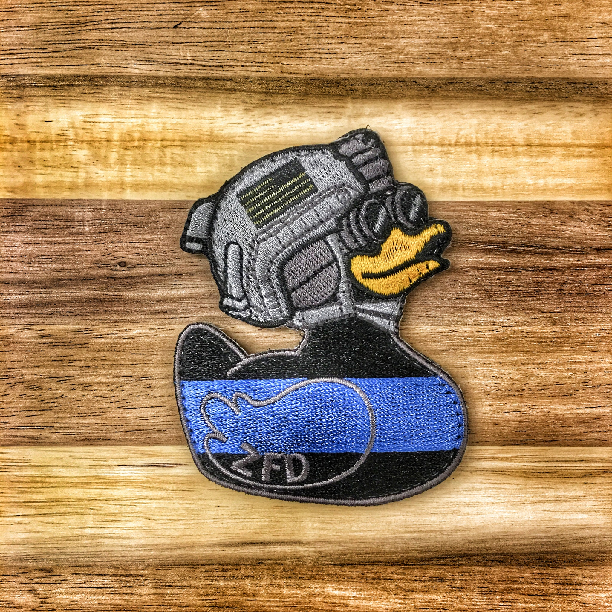 "DUMP BOX ZERO FUCKS DUCK ""ZFD"" MORALE PATCH - THIN BLUE LINE"