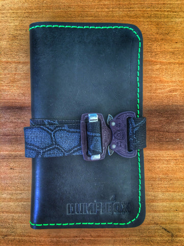 LIMITED EDITION LEATHER BLACK/TOXIC KRYPTEK FIELD NOTES PATCH BOOK