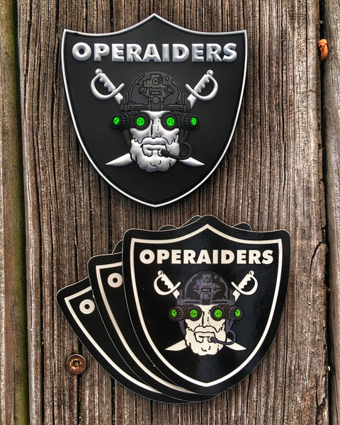 """ALL NEW"" OPERAIDERS NIGHT VISION NVG OPERATOR PVC MILITARY MORALE PATCH - 2 OPTIONS"