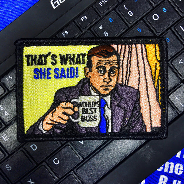 "The Office ""That's What She Said"" Michael Scott Morale Patch"