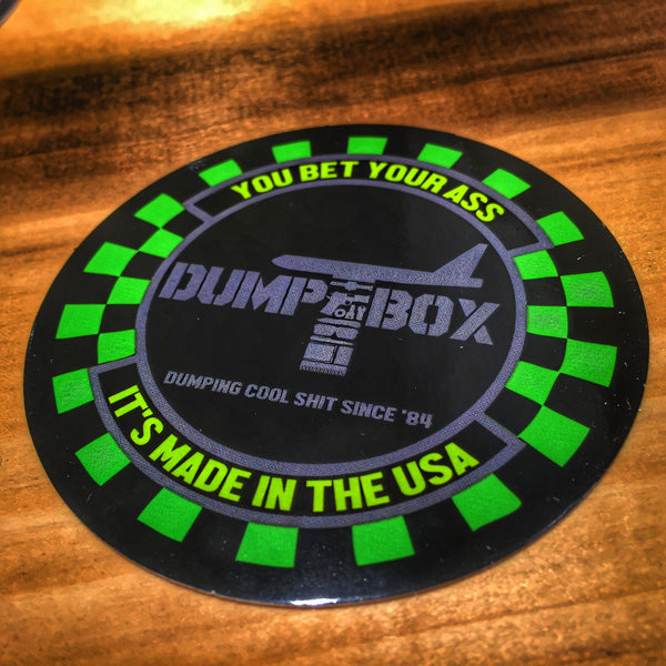 "DUMP BOX ROUND 3"" FIGHTER SQUADRON STICKER"