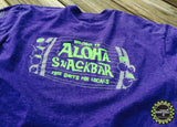 WELCOME TO ALOHA SNACKBAR, FREE SHOTS FOR LOCALS T-SHIRT - STORM