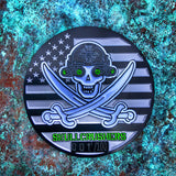 *NEW* DUMP BOX SQUADRON / SKULLCRUSHERS JOLLY ROGER LIMITED EDITION BLACK METAL CHALLENGE COIN