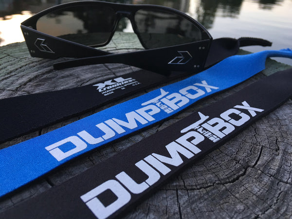 AUTHENTIC DUMP BOX TACTICAL CROAKIES XL SUNGLASS RETAINERS - 2 COLOR OPTIONS