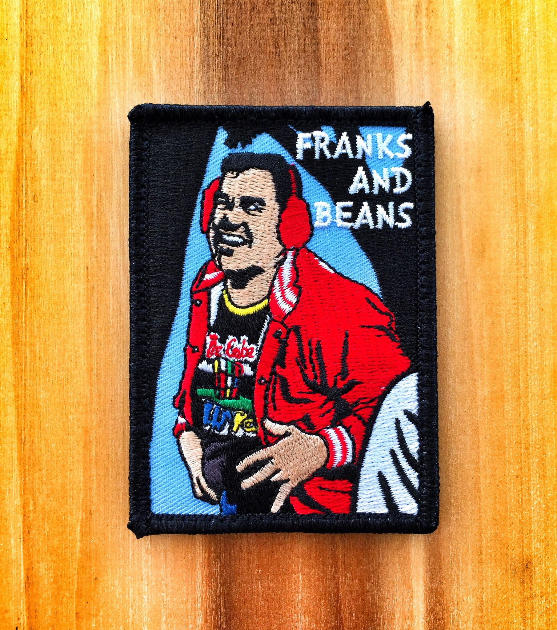 "THERE'S SOMETHING ABOUT MARY ""FRANKS AND BEANS"" WARREN MORALE PATCH"