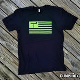 'ALL NEW' DUMP BOX OFFICIAL B-52 SUBDUED AMERICAN FLAG T-SHIRT - 2 COLOR OPTIONS